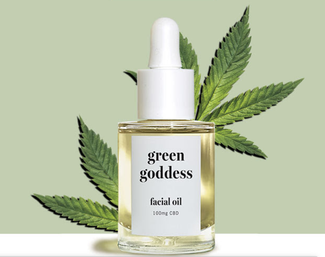 GREEN GODDESS our first facial oil, with CBD
